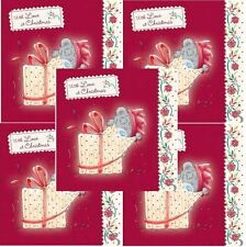 Me to You Christmas Card 5 Pack - Open Gift With Love Tatty Teddy Bear