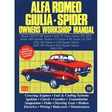 ALFA ROMEO GIULIA 1300 1600 Ti SPRINT GT SPIDER 1.6 SUPER Manual Owners Handbook