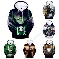 RAINBOW SIX SIEGE Cosplay Men's Hoodie Pullover Hooded Sweater Sweatshirt