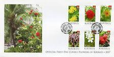 Kiribati 2017 FDC Flowers of Kiribati 6v Set Cover Nature Flora Plants Stamps