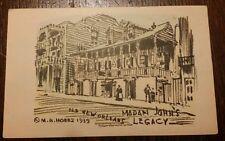 "VTG M.H. Hobbs Post Card ""MADAM JOHN'S LEGACY"" Old New Orleans 1939 Free Ship"