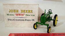 "Ertl John Deere ""HWH"" 1/16 diecast farm tractor replica collectible"