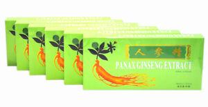6 Boxes Panax Ginseng Extract Oral Liquid 4500mg Improves Stamina & Memory