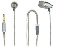 In-Ear Stereo Headset für LENOVO Moto X4 / Z Play anthrazit / gold