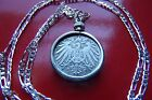 1890-1916 COIN PENDANT POWERFUL GERMAN EMPIRE COIN ART on a 30