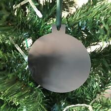 gris graphite boule en forme de décorations ARBRE NOËL, & vert ruban, Paquet 10