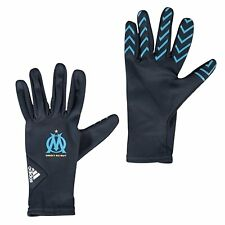 Adidas soccer outfield throw in gloves marseille football gloves small   BNWT