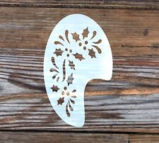 Holly Face Paint Festival Party Stencil approx 8cm x 12cm Washable Mylar
