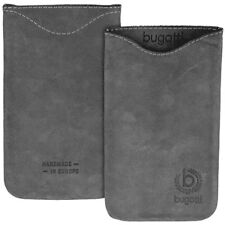 Bugatti Skinny Steel Grey cuero f HTC Hero T-Mobile g2 Touch bolsa gris