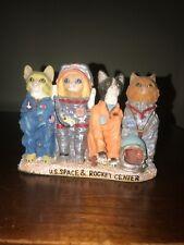 Vintage NASA Huntsville Alabama US Space & Rocket Center Astronaut Cats Figurine