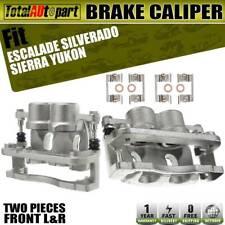 2x Brake Caliper w/ Bracket Front Both Sides for Chevy Silverado GMC Sierra 1500
