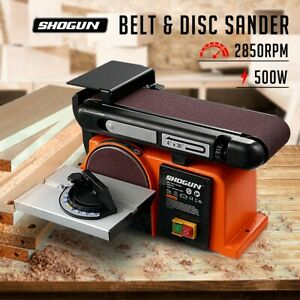 SHOGUN 500W Belt Disc Sander Power Tool Linisher Machine Grinder Bench Mount
