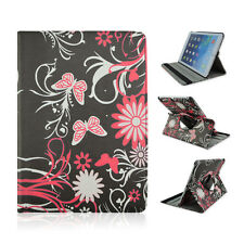 """Fits Samsung Galaxy Tab A 8"""" inch Tablet Black Flower Butterfly Case Cover"""