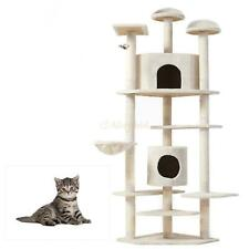 "52""/60""/36"" ;/80"" Cat Tree Play House Tower Condo Furniture Scratch Post Toy Bed"