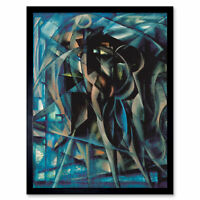Berlin Figures Surreal Cubist Painting Framed Wall Art Poster