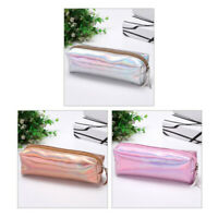 Iridescent Student Pencil Case PU waterproof Pencil Cases Cosmetics Bag CY2Z