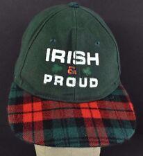 Green Plaid Irish & Proud baseball hat cap adjustable snapback