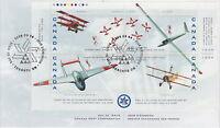 CANADA #1807 46¢ CANADIAN INTERNATIONAL AIR SHOW SOUVENIR SHEET FIRST DAY COVER
