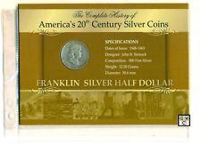 America's 20th Century Silver Coins 1948 Franklin Silver Half Dollar Coin (OOAK)