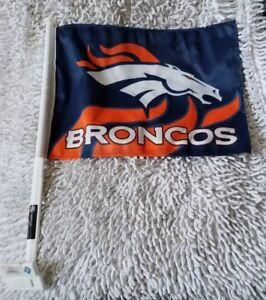 NFL CAR WINDOW FLAG DESIGN STYLE OMBRE DENVER BRONCOS