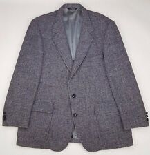 HARRIS Tweed BLAZER Mens 48L Two BUTTON Multicolor CHECKED Long USA Vintage SIZE