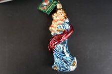 Merck Family's Old World Madonna and Child Glass Christmas Ornament New Mary