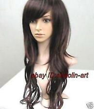 Haute qualité ! brun fince longue Bouclé santé cosplay Costume cheveux perruques