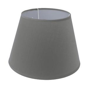 Lampenschirm E14/E27 Fassung Leinenoptik Stoffschirm rund H 21 cm versch. Farben