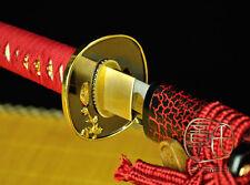 HIGH QUALITY JAPANESE NINJA SECT SHRINE SAMURAI SWORD KATANA PATTERN STEEL #1733