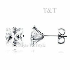 Cubic Zirconia Stainless Steel Fashion Earrings