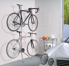 Bike Rack Garage Wall Gravity 2 Bicycle Silver Powder Coated Indoor Holder