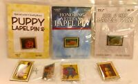 New USPS Collectible Lot of 7 Lapel Pins 90's Superman Puppy Pelican Diabetes +