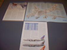 VINTAGE..AIRBUS A380-800 ..CUTAWAY/LEGEND/3-VIEWS/PROFILES..RARE! (554J)