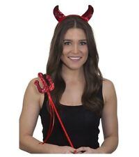 Jacobson Hat Company Devil Sequin Red Horns and Pitchfork Set