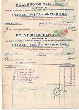 Facturas Polvero San Jose Sevilla Saludo a Franco Arriba España año 1939 (CZ-894