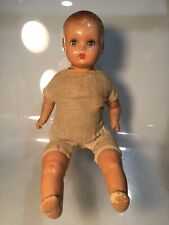 Vintage Mid Century Baby Doll 1950s Sleeper Baby Hard Plastic Cloth Body