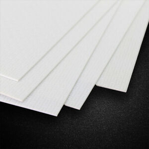 4pcs ABS Styrene Wall Floor Brick Sheet 215mm x 300mm White Architectual Model