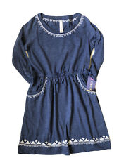 NWT Girls Blue Long Sleeve Dress Cherokee Large 10 12