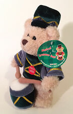 "Fine Toy Teddy Bear Musical Drummer Plays Christmas Jingle Bells Stands 10"" Tall"