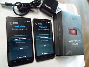 Motorola Droid MAXX + Droid Ultra XT1080 16GB Black Verizon 2 Phones w/ Otterbox