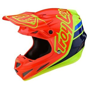 Troy Lee Designs Se4 Helmet Composite TLD MX Motocross Silhouette Orange 2020
