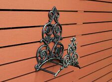 Hose Holder Cast Iron Big Flower Decorative Hose Reel Hanger Verdigris SREDA