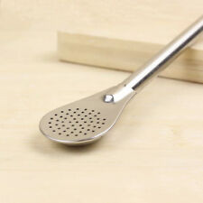 Perfect Stainless Steel Drinking Tea Yerba Mate Straw Bombilla Filter Spoon Tool