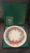 Lenox 1990 Colonial Christmas Wreath Plate New Jersey 10 3/4""