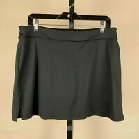 Tranquility Black Casual Skort sz Large Skirt with Shorts Underneath Womens