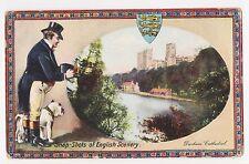 Durham,U.K.Durham Cathedral,Man with Camera & English Bull Dog,Crest,Used,1917