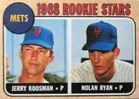 1968 Topps Nolan Ryan Rookie Card Fridge Magnet New York Mets Texas Rangers