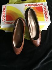 California Magdesians Brown Animal Print Leather Women's Shoes Size 4.5