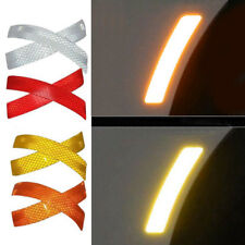 2Pcs Car Vehicle Bumper Reflective Warning Strip Decal Stickers Auto Accessory`