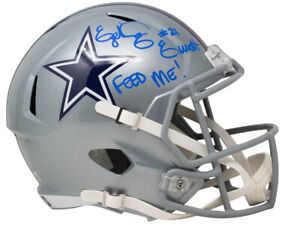 Ezekiel Elliot Signed Dallas Cowboys Full Size Speed Replica Helmet Feed Me BAS